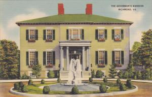 The Governor's Mansion, Built 1813, Richmond, Virginia 1930-40s