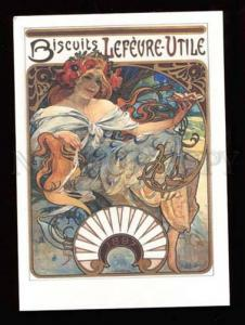 020318 Biscuit Advertisement. Alphonse MUCHA. Modern