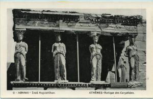 Greece - Athens, Partial View of the Caryatides  *RPPC