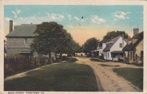 YORKTOWN, Virginia, PU-1925; Main Street