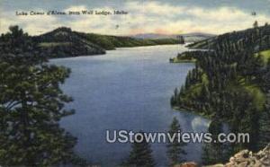 Lake Coeur d'Alene Wolf Lodge ID 1954