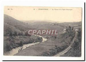 Eymoutiers Old Postcard The Vienna and Line of & # 39Auvergne