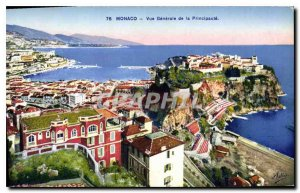 Old Postcard Monaco General view of the Principality