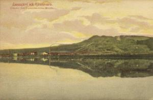 sweden, KIRUNA Lake Luossajärvi and Mountain Kiirunavaara (1916)