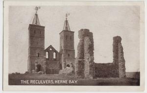 Kent; The Reculvers, Herne Bay PPC 1915 PMK, To Mrs Deacon, Wimbledon
