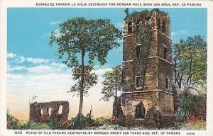 Ruins of Old Panama Destroyed by Morgan about 300 years ago, Republic of Pana...