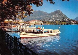 Switzerland Lugano Monte Bre, La Riva Boats Lac Lake Boats