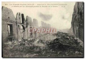 Old Postcard The Great War aspect of the city & # 39Albert bombed Army