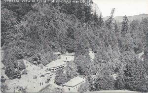 View of Orr's Hot Springs Near Ukiah, California, Early Postcard, Unused