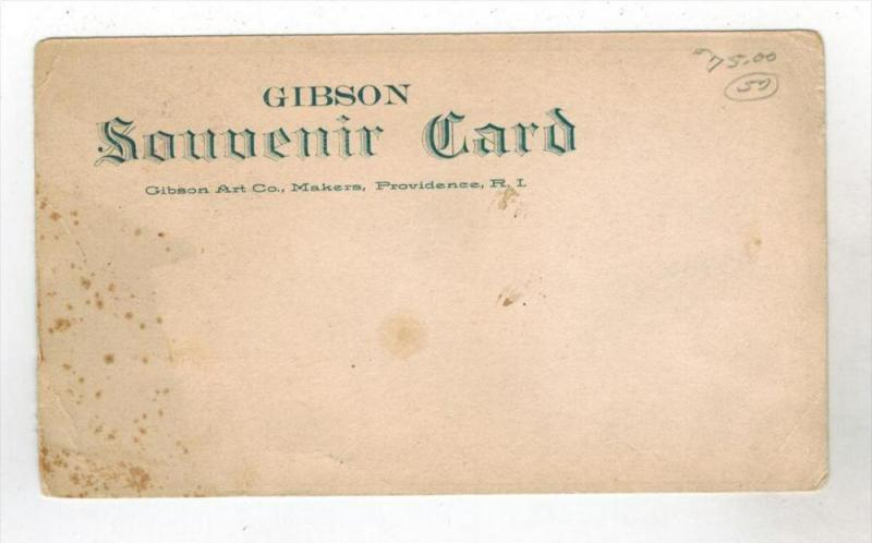 #328 R I Prov  GIBSON ART CO Souvenir Card  1906   RARE??