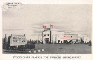 Stockholm Restaurant, Swedish Smorgasbord, Somerville, N.J., Unused Postcard