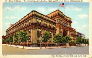 Pennsylvania Philadelphia Drexel Institute Of Technology Main Buildings 1939 ...