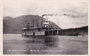 RP: Paddle Wheel stern of Steamer TUTSHI , W.P.Y.R. , CARCROSS , Yukon , Ca...