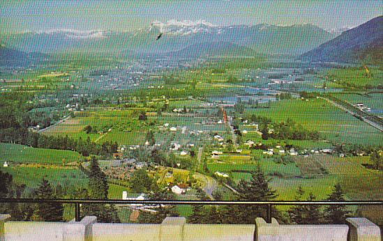 Canada Fraser Valley From Westminster Abbey Mission British Columbia