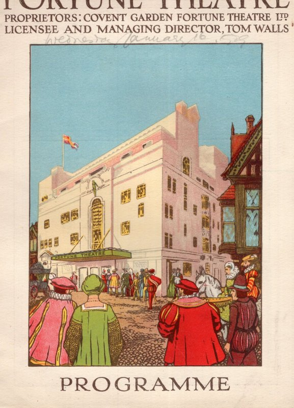 Jealousy Fortune Theatre Mary Newcomb Crane Wilbur Theatre Programme