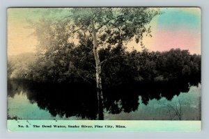 Pine City MN-Minnesota, The Dead Water, Snake River, Vintage c1912 Postcard