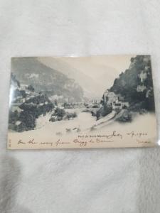 Antique Postcard entitled Pont de Saint-Maurice  Posted, 1900