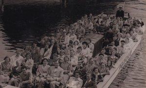 Sweden 1914 WW1 Guided Boat Trip Gotenburg Postcard