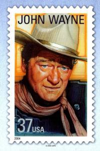 Stamps On Postcards John Wayne 2006
