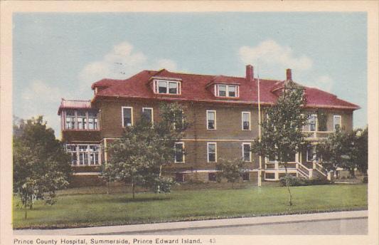 Canada Summerside Prince County Hospital 1951 Prince Edward Island