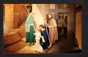PQ Ste Anne de Beaupre Wax Museum Holy Family Quebec Religious Carte Postale