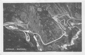 RPPC Andermatt - Schöllenen, Switzerland c1930s Vintage Postcard