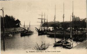 CPA PORNIC Le Port a marée haute (610715)