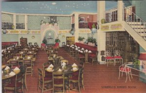 New York Rochester Casa Lorenzo Restaurant Dining Room Interior Curteich sk2439