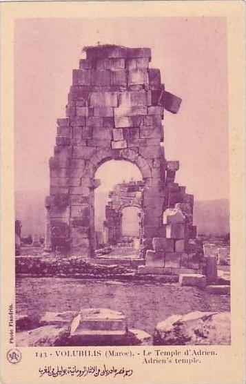 Morocco Volubilis Adrien's Temple 1920s-30s