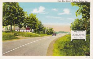 FULTON, Kentucky, 1930-1940´s; State Line Street, Entering Fulton