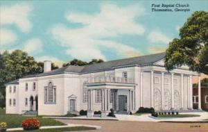 First Baptist Church Thomaston Georgia Curteich