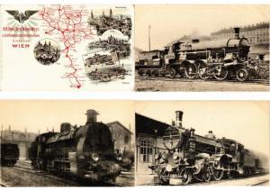 AUSTRIA, LOCOMOTIVES, TRAINS, RAILWAY, Mostly REAL PHOTO 38 VINTAGE POSTCARD