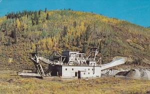 Gold Dredge on a gold creek near Dawson City, Yukon, Canada, 40-60s