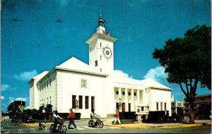 City Hall Hamilton Bermuda Vintage Postcard