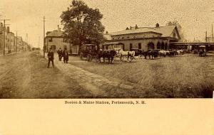 NH - Portsmouth.  Boston & Maine Railroad Station, Depot
