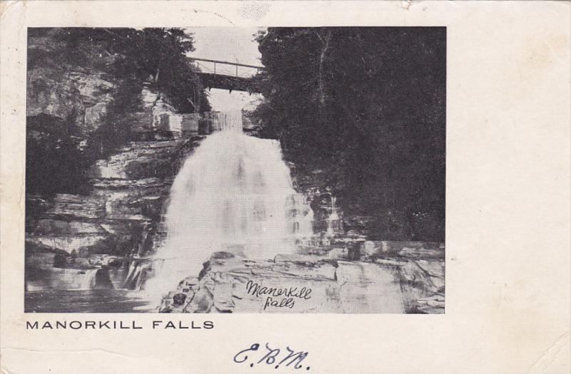 NEW YORK, PU-1907; Manorkill Falls