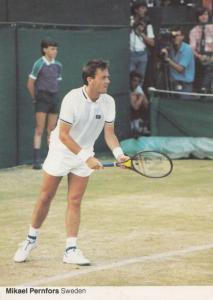 Mikael Pernfore Sweden Swedish Tennis Champion Rare Wimbledon Postcard