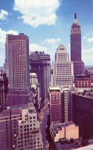 NY - New York City. Downtown Manhattan Skyscrapers