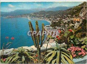 Modern Postcard Frontiera Italo Francese on the bottom Mentone