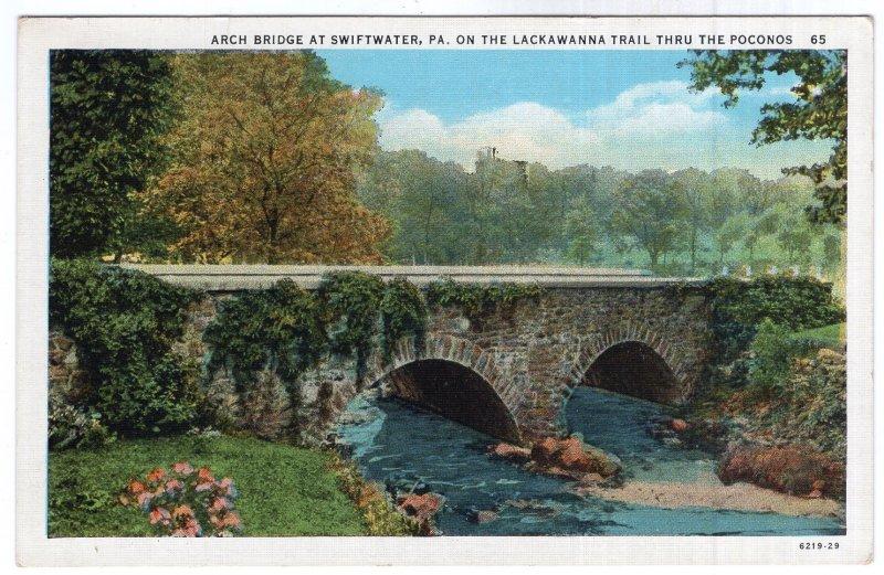 Arch Bridge At Swiftwater, Pa, On The Lackawanna Trail Thru The Poconos