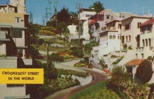 Lombard Street San Francisco Crookedest Street Calif. Vintage Chrome Post Card