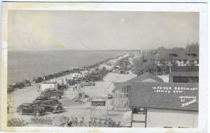 Wasaga Beach Ontario Canada Beach Palmistry Cars RPPC Real Photo Postcard