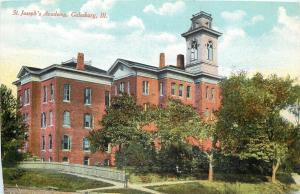 Galesburg Illinois~St Josephs Academy~1912 Postcard