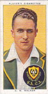 Player Vintage Cigarette Card Cricketers 1938 No 48 C W Walker South Australia