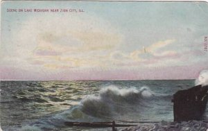 Illinois Zion City Scene On lake Michigan 1910