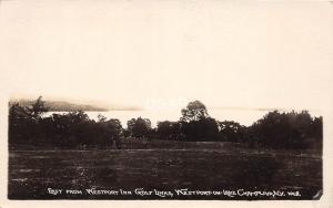 C63/ Lake Champlain New York NY Real Photo RPPC Postcard c1920 Westport Inn Golf