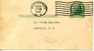 U. S. Postal Card - UX27 Meeting Notice. International HOD Carriers Building