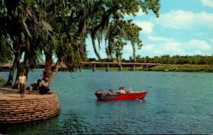 Florida Deland New Whitehair Bridge From Wayside Park