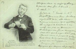 PC CPA FREEMASONRY, LE VOTE DE DAMAIN 4, Vintage Postcard (b14971)