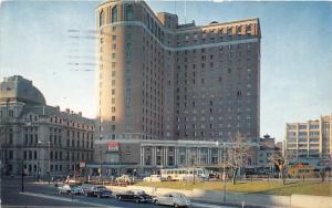 Providence Rhode Island~Sheraton-Biltmore Hotel~Nice Classic Cars-Bus~1961 Pc